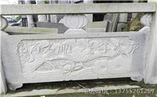 大余花岗岩芝麻白石材雕刻栏杆 厂家加工直供(推荐)