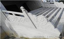 安远花岗岩芝麻白石材雕刻栏杆 厂家加工直供(守信)