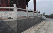 宜兴花岗岩芝麻白石材雕刻栏杆 厂家特价定做(守信)