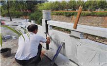 泰州花岗岩芝麻白石材雕刻栏杆 厂家产地定制(诚信)