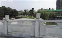 湖北花岗岩芝麻白石材雕刻栏杆 厂家产地直供(诚信)