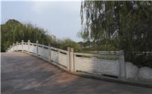 张家界花岗岩芝麻白石材雕刻栏杆 厂家特惠订制(守信)