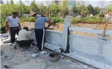 镇江花岗岩芝麻白石材雕刻栏杆 厂家产地订制(守信)