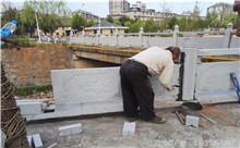 扬州花岗岩芝麻白石材雕刻栏杆 厂家产地定做(优质)